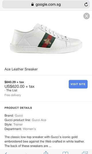 cbb8c2aa6 gucci ace sneakers authentic | Toys & Games | Carousell Singapore