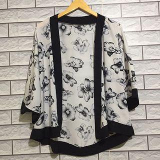 Kimono cardigan flower outer outwear outerwear