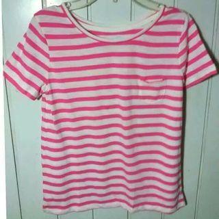 Baju Gapkids Girls Tee Shirt Stripe Pink Kaos anak Perempuan Baju Cewek