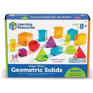 Learning Resources View-Thru Geometric Solids - 14 Pieces