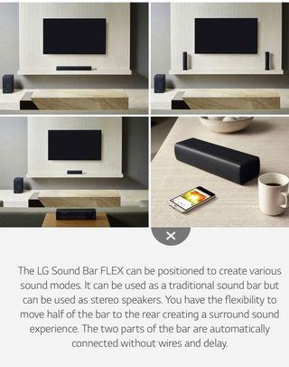 🆕LG Bluetooth soundbar SJ7 Flex (sealed)