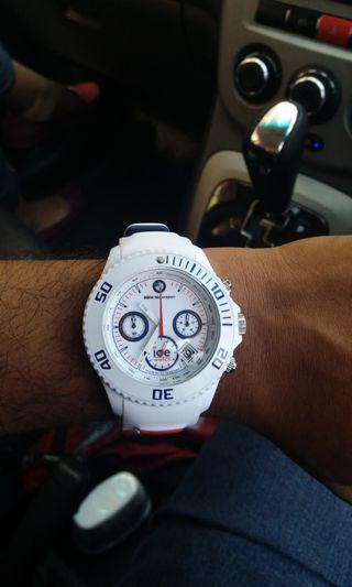 Categories  New Arrivals  Men Watch Ice-Watch Stopwatch BMW Motorsport - White