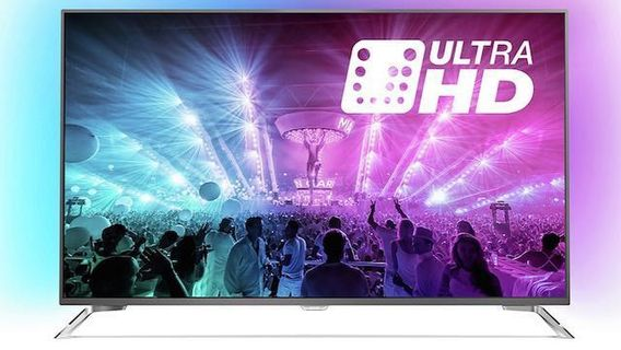 "117b25b93cf99 Philips 55"" 4K UHD Ultra Slim LED TV powered by Android TV with Ambilight"