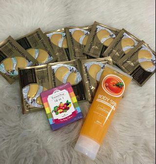 Masker Kantung Mata isi 10 Pcs + BodySpa + Sabun