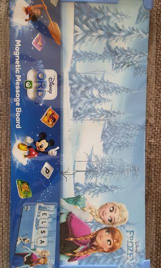 Disney Frozen, Little Mermaid Magnetic Message Board