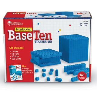 Learning Resources Base Ten Interlocking Plastic Rods Starter Set