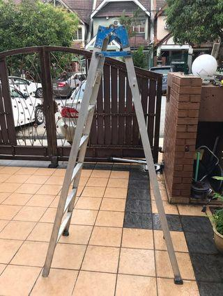 7 steps dual purpose foldable double sided ladder