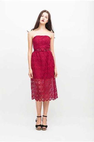 8daa9bfae46 Osmose Crochet Flower Midi Dress