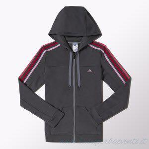 Adidas performance 3 stripe hoodie jacket