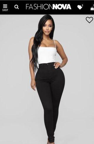 Fashion Nova Black High Waisted Jeans