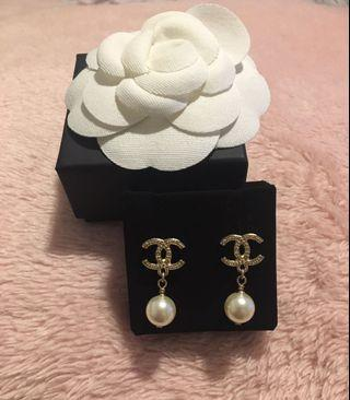 Brand new Chanel pearl drop earrings
