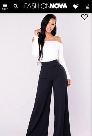 Fashion Nova Off the Shoulder White Top