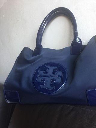 TORY藍色肩背手提包(小)