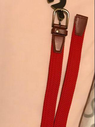 Ted baker red colored elastic belt s/m size