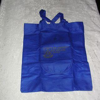 The University of Adelaide Australia Tote Bag (w/front large pocket), foldable