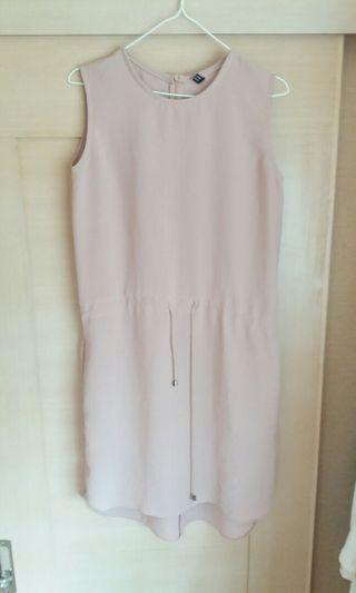 SHOWCASE Korean Nude pink Dress straw string