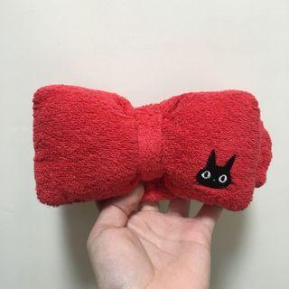 魔女宅急便 紅色毛巾質髮帶