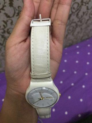Reprice! Jam Swatch Character Leather Strap SUOW703