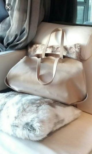 Zara tote Nude beige pink大容量手袋