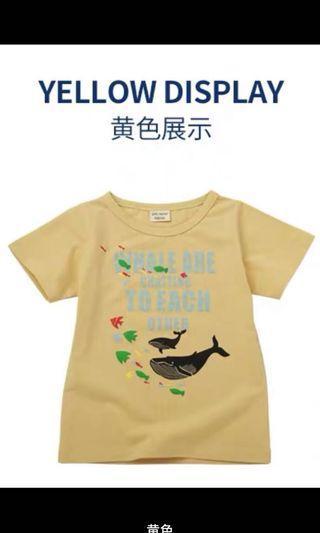 🚚 純棉海洋鯨魚圖案T