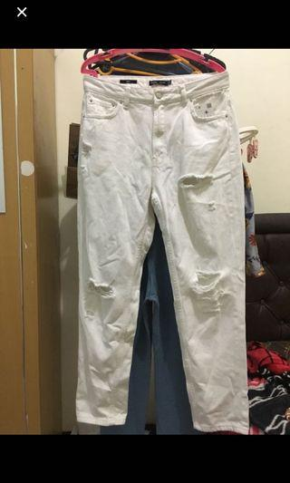 Bershka mom jeans size 30 (baru)