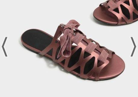 Charles & Keith Laced Up Sandals  #endgameyourexcess #mrthougang #mrtserangoon #mrtpunggol