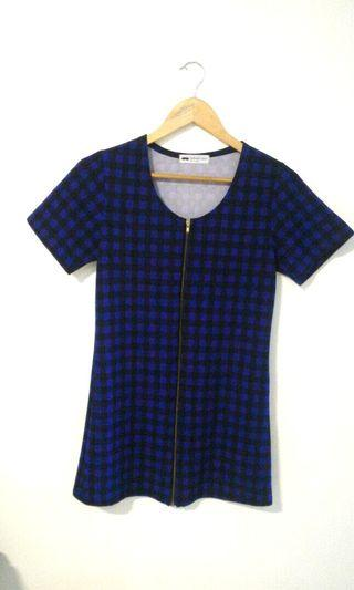 (Made in Korea) Sheath dress checkered