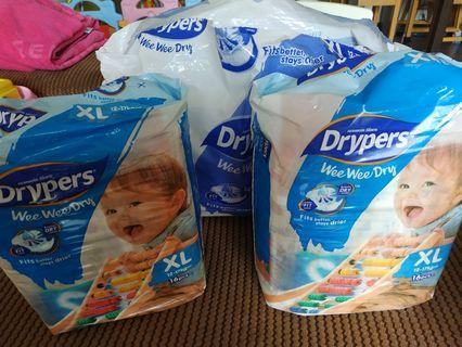 Drypers Wee Wee Dry 56pcs XL size