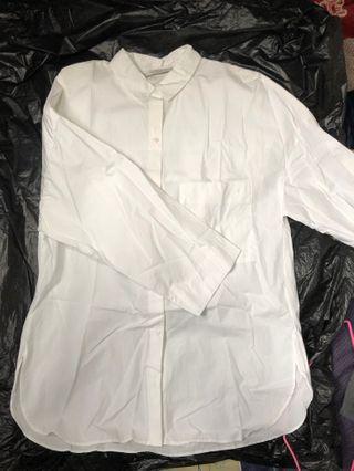 Zara白色襯衫