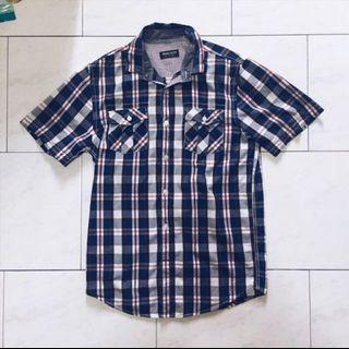 Zara Youth Blue Checkered Shirt #mrthougang #mrtserangoon