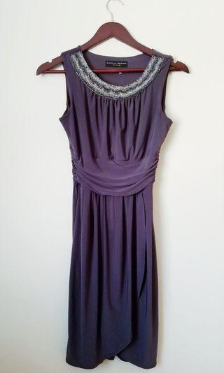 Cocktail Dress Embroidered Neckline