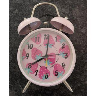 Bobble Pink Strawberry Analogue Alarm Clock