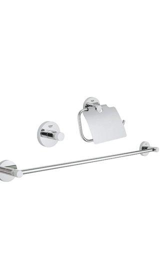 New Authentic Grohe 3 in 1 bathroom set
