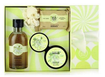 Brand New 5 pc Body Shop Moringa Gift Set