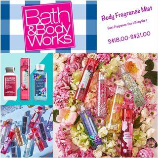 🚚 Bath & Body Works - Body Mist 236ml