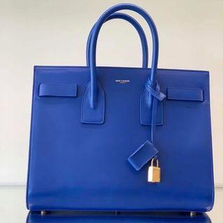 YSL classic sac de jour small in electric blue color 手挽袋 handbag