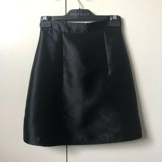 KOOKAI Starlight Skirt Black Mini Skirt A Line Shine Structured Premium Sheike Cue Cameo Bardot