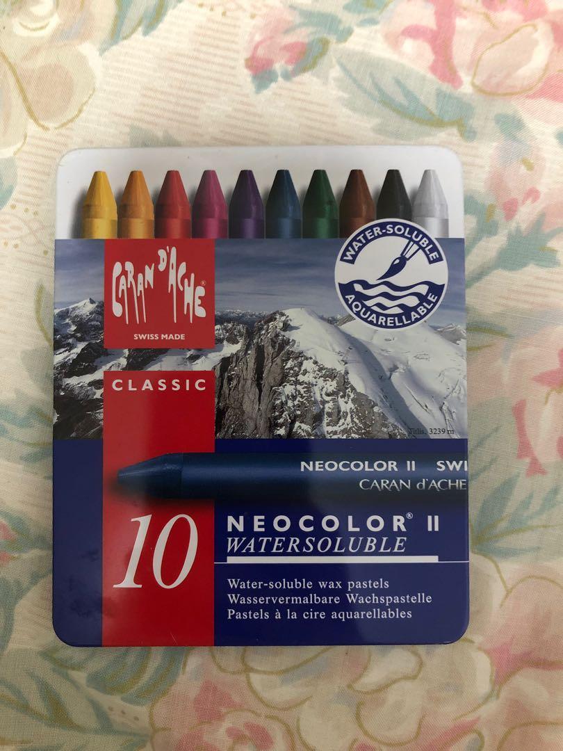 10色油性蜡笔瑞士Caran d'Ache非水溶性蜡笔Neocolor I7000.310
