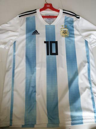 635319c1217 Authentic Adidas Argentina Home World Cup 2018 Jersey XL with  10 MESSI  Nameset