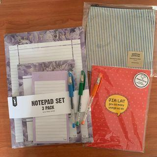 Typo Weekly Planner Pens NoteBook Pouch