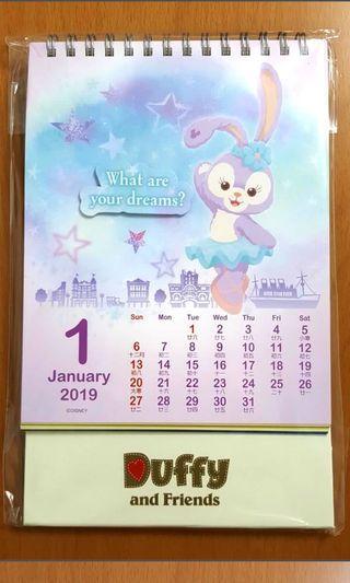 Duffy and Friends Calendar 2019 座枱月曆日歷