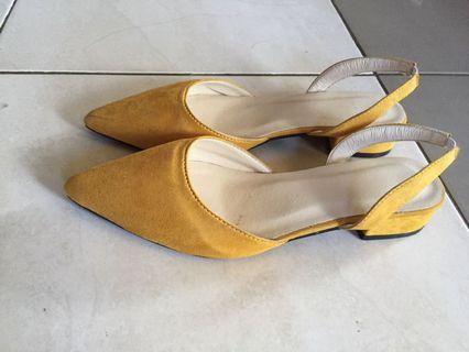 Korea Pointed Toe Low Heels