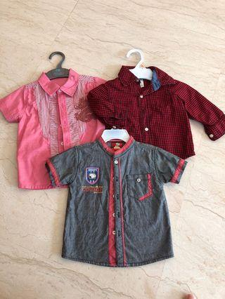 Shirts for boys 1-2 years old
