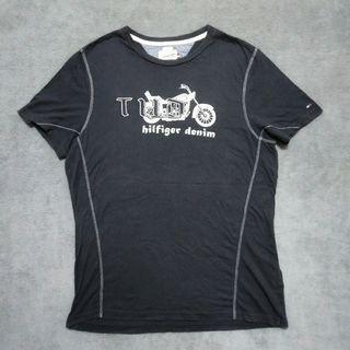 Tommy hilfiger denim 短T shirt 棉t 黑色男S號