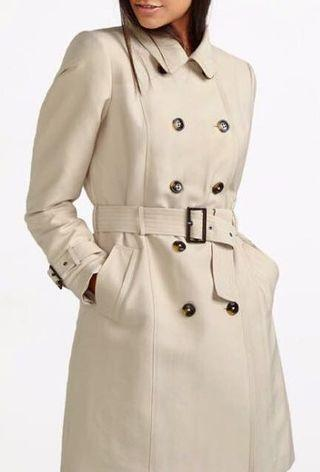 Navy Blue Belted Trench Coat