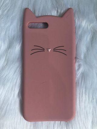 Pink cat iphone7/8+ case