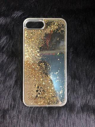 Gold Glitters Falling silicone iphone7/8+ case