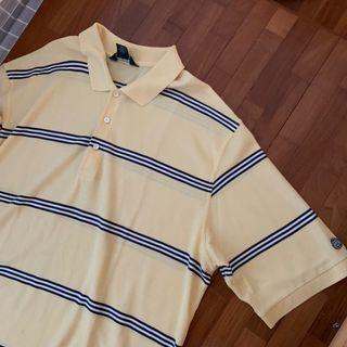 vintage pale yellow oversized polo tee