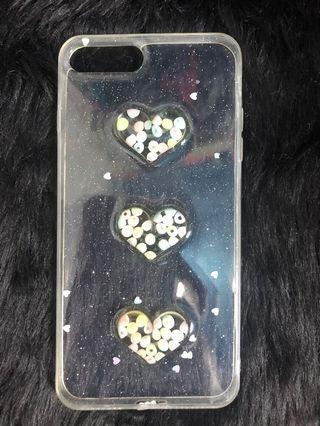 3D heart beads silicone iphone7/8+ case