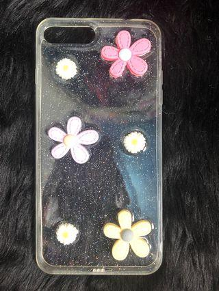 3D flowers silicone iphone7/8+ case